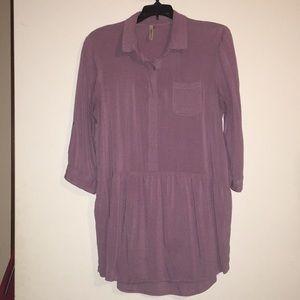 Soft purple tunic length shirt